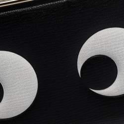 Anya Hindmarch Black Leather Imperial Eye Box Chain Clutch