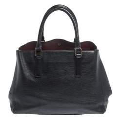 Anya Hindmarch Black Leather Ebury Soft Tote