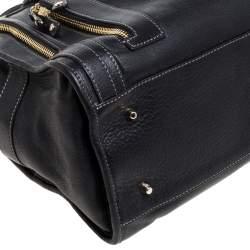 Anya Hindmarch Black Leather Shirley Satchel