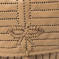 Anya Hindmarch Beige Woven Leather Shoulder Bag