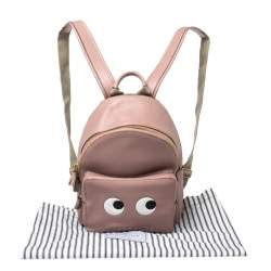 Anya Hindmarch Pink Leather Eyes Backpack