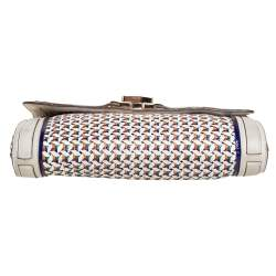 Anya Hindmarch Multicolor Woven Leather Flap Clutch