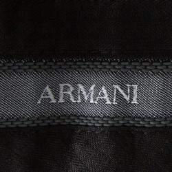 Armani Collezioni Grey Pin Striped Regular Fit Trousers XXXL