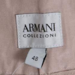 Armani Collezioni Pale Pink Linen Silk Wide Leg Pants L