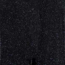 جاكيت بليزر أرماني كوليزوني مزين طية صدر منفوشة جيرسيه مزخرف أسود مقاس وسط (ميديوم)
