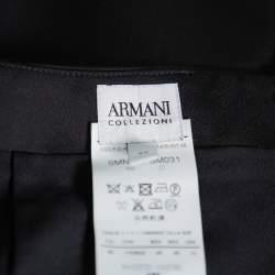 تنورة أرماني كوليزوني طول للركبة ديرابية جورجيت أسود مقاس كبير (لارج)