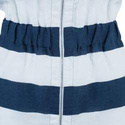 Armani Collezioni Nautical Zip Front Dress S
