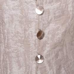 جاكيت بليزر أرماني كوليزوني مفصل كتان مزخرف رصاصي مقاس صغير (سمول)