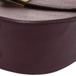Aspinal Of London Burgundy Leather Letterbox Saddle Top Handle Bag