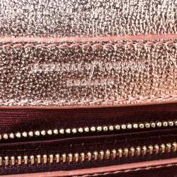 Aspinal Of London Metallic Peach Leather Small Lottie Shoulder Bag