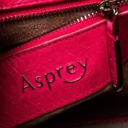 Asprey Pink Ostrich Belgravia Tote
