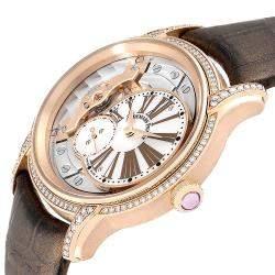 Audemars Piguet MOP Diamonds 18K Rose Gold Millenary 77247OR Women's Wristwatch 39.5 MM