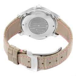 Audemars Piguet Silver Diamonds Stainless Steel Millenary 77301ST Women's Wristwatch 39.5 x 35.5 MM