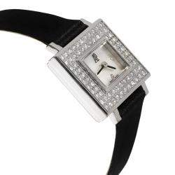 Audemars Piguet MOP Diamonds 18K White Gold 67345BC/Z/0001CR/01 Women's Wristwatch 18 MM
