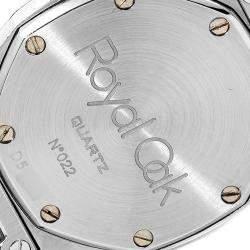 Audemars Piguet Grey 18k Yellow Gold And Stainless Steel Royal Oak Women's Wristwatch 28 MM