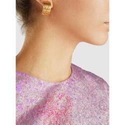 Aurelie Bidermann Gold Thalia Hammered Gold Clip-On Earrings