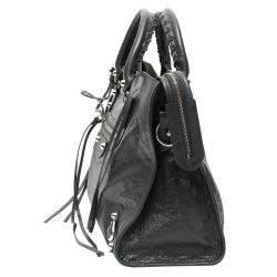 Balenciaga Dark Grey Leather Classic City Bag