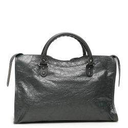 Balenciaga Dark Grey Leather Classic City Bag