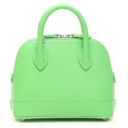 Balenciaga Lime Green Leather Ville XXS Satchel Bag