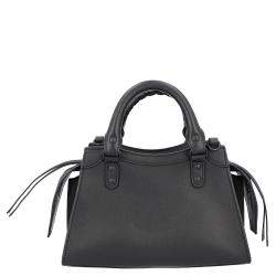 Balenciaga Black Leather Neo Classic Mini top handle bag