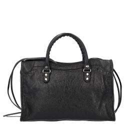 حقيبة بالنسياغا كلاسيك سيتي ميني جلد أسود