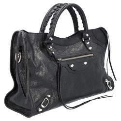 حقيبة بالنسياغا مونوكروس كلاسيك سيتي جلد أسود
