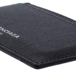 حافظة بطاقات بالنسياغا إيفريبودى جلد سوداء