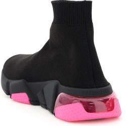 Balenciaga Black/Pink Speed Stretch Knit Sneakers Size EU 38
