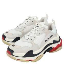 Balenciaga White Triple S Sneakers Size EU 38