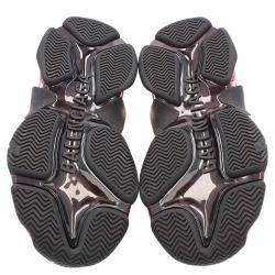 Balenciaga Black/Pink Triple S Clear Sole Sneakers Size 35
