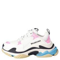 Balenciaga White/Multicolor Triple S Sneakers Size EU 41