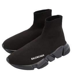 Balenciaga Black Knit Speed.2 Sneakers Size EU 39
