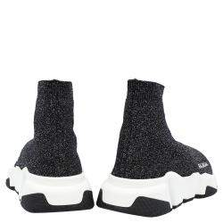 Balenciaga Black Knit Speed Sneakers Size EU 37