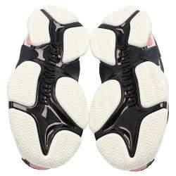 Balenciaga White/Pink Leather and Mesh Triple S Platform Sneakers Size EU 36