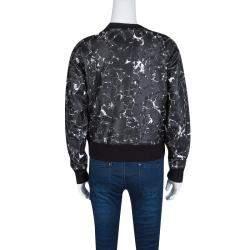 Balenciaga Black Mosaic Print Long Sleeve Crew Neck Sweatshirt XS
