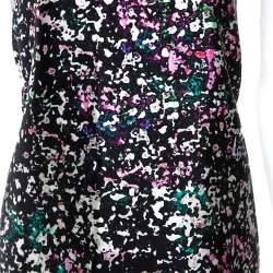 Balenciaga Multicolor Printed Silk Blend Trapeze Dress M