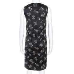Balenciaga Black Silk Blend Embellished Sleeveless Trapeze Dress M
