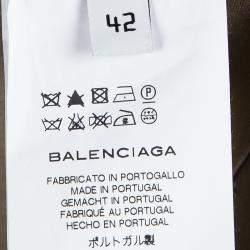 Balenciaga Brown Cotton Tailored Pants M