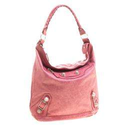 Balenciaga Rose Leather Classic Day RGGH Hobo