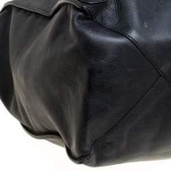 Balenciaga Black Leather Papier A4 Tote
