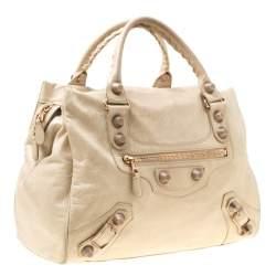 Balenciaga Beige Leather Giant 21 Midday Bag