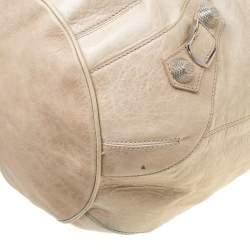 Balenciaga Sand Beige Leather GSH 21 Pompon Hobo