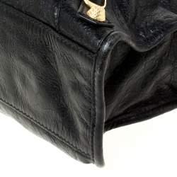 Balenciaga Black Leather Small City RH Tote
