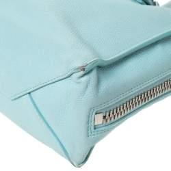 Balenciaga Light Green Leather Papier A4 Zip Around Tote