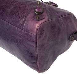 Balenciaga Raisin Leather RH Twiggy Satchel