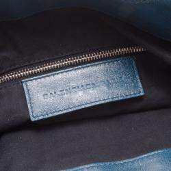 Balenciaga Blue Lambskin Sac Clous