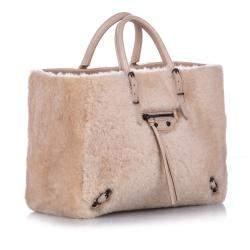 Balenciaga Pink Shearling Papier A6 Bag