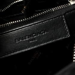 Balenciaga Black Leather Bazar Shopper S Tote