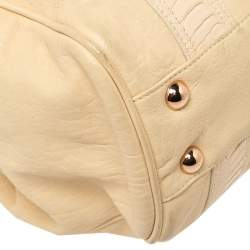 Balenciaga Cream Leather Satchel Bag
