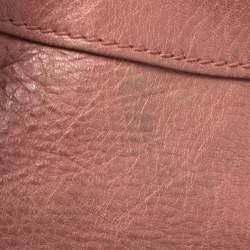Balenciaga Pink Leather Motocross Classic City Bag